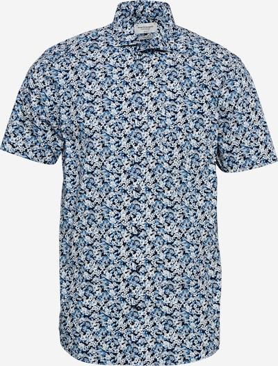 Bruun & Stengade Hemd 'Ferrara' in marine / navy / rauchblau / weiß, Produktansicht