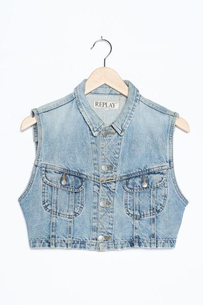REPLAY Jeansweste in L in blue denim, Produktansicht