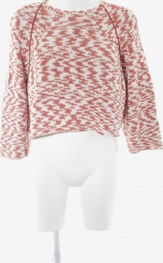 MANGO Grobstrickpullover in XS-XL in dunkelorange / rosé / weiß, Produktansicht