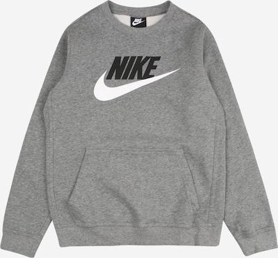 Nike Sportswear Sweatshirt i grå / sort / hvid: Frontvisning