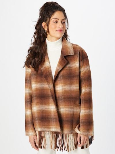 Palton de primăvară-toamnă 'Cooper' Line of Oslo pe ecru / maro, Vizualizare model