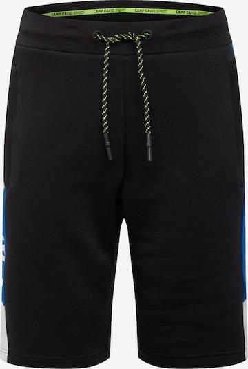 CAMP DAVID Shorts in royalblau / neongelb / schwarz / weiß, Produktansicht