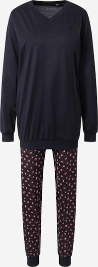 CALIDA Pyjama en bleu foncé / rouge foncé / blanc, Vue avec produit