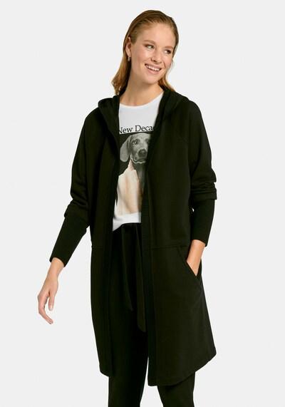 MARGITTES Strickmantel in schwarz, Modelansicht