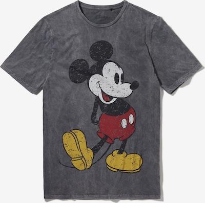 Recovered T-Shirt 'Disney Mickey Mouse' en jaune / gris / rouge / blanc, Vue avec produit