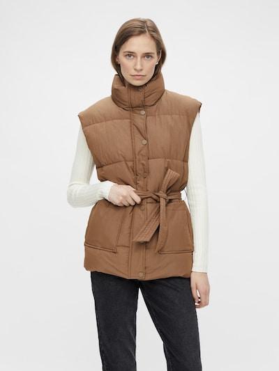 PIECES Weste 'Fiona' in brokat, Modelansicht