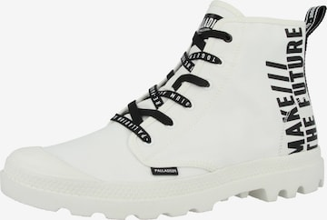 Boots 'Hi Future' Palladium en blanc