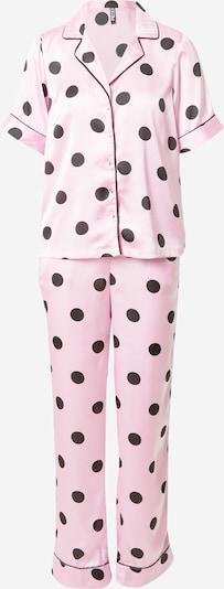 rózsaszín / fekete PIECES Pizsama 'ANDREA', Termék nézet