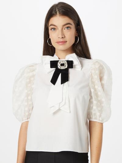 Bluză River Island pe negru / alb, Vizualizare model