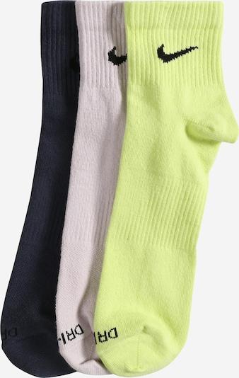 NIKE Urheilusukat värissä tummansininen / vaaleanvihreä / valkoinen, Tuotenäkymä