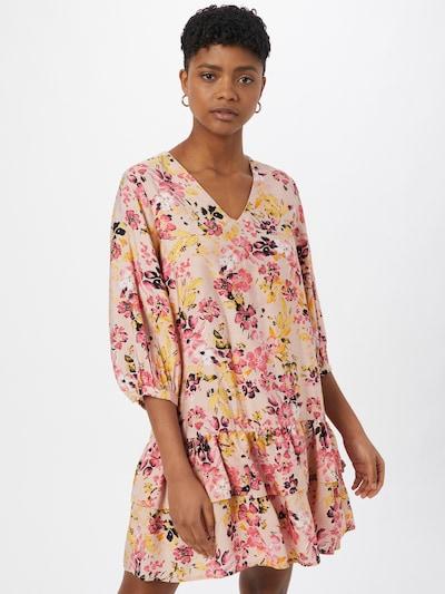 VERO MODA Kleid 'GIGI' in gelb / rosa / rosé / schwarz, Modelansicht