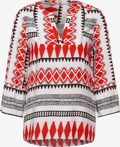 CECIL Bluse in rot / schwarz / weiß, Produktansicht
