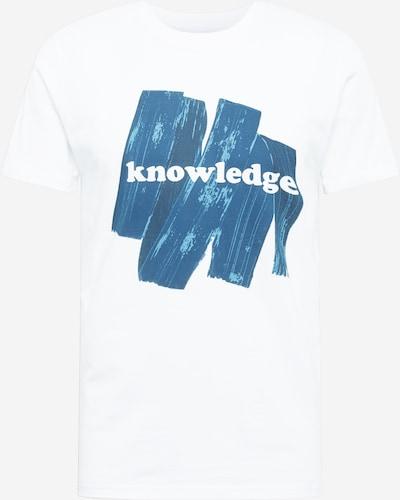 KnowledgeCotton Apparel T-Shirt 'ALDER' in himmelblau / offwhite, Produktansicht