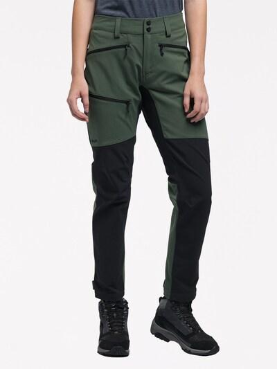 Haglöfs Outdoorhose 'Rugged Flex' in khaki / schwarz, Modelansicht
