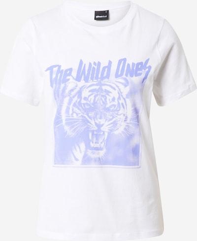 Gina Tricot Shirt 'Ida' in taubenblau / weiß, Produktansicht