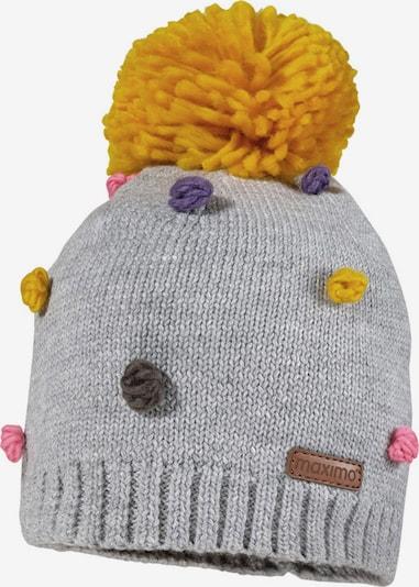 MAXIMO Mütze in senf / grau / dunkellila / rosé, Produktansicht
