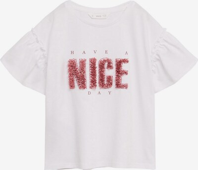 MANGO KIDS Shirt 'NICE' in rosé / weiß, Produktansicht