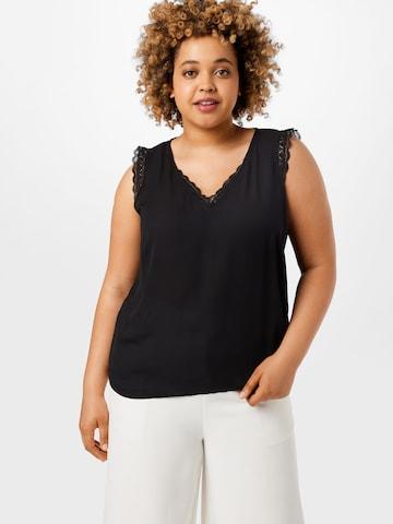Vero Moda Curve Bluse 'POEL' in Schwarz