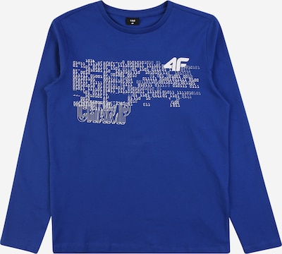 4F T-Shirt fonctionnel en bleu chiné / blanc, Vue avec produit