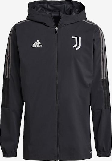 ADIDAS PERFORMANCE Jacke 'Juventus Turin Tiro' in anthrazit / weiß, Produktansicht
