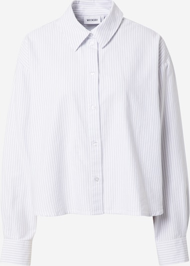 WEEKDAY Blouse 'Beam' in Light blue / White, Item view
