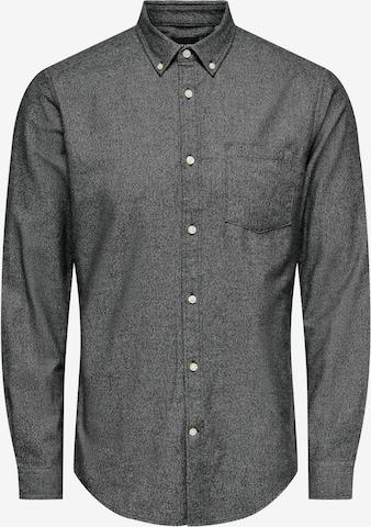 Camicia 'Niko' di Only & Sons in grigio