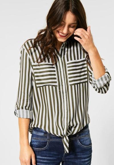 STREET ONE Bluse in khaki / weiß, Modelansicht