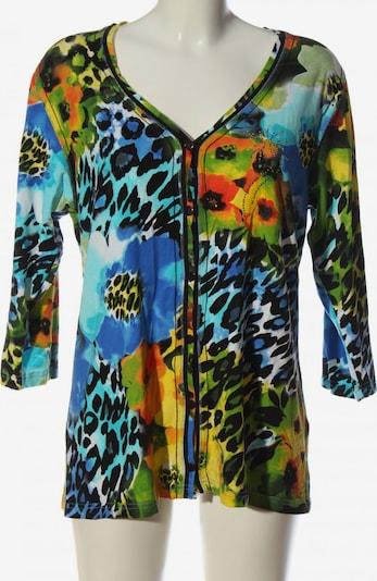 IMAGINI Langarm-Bluse in XXL in blau / grün / schwarz, Produktansicht