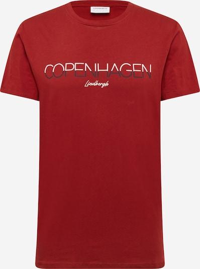 Lindbergh T-Shirt in marine / rostrot / weiß, Produktansicht