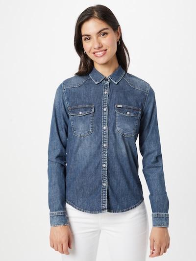 LTB Bluse 'Lucinda' in blue denim, Modelansicht