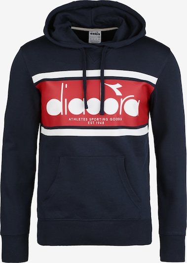 Diadora Hoodie 'Spectra' in nachtblau / rot / weiß, Produktansicht