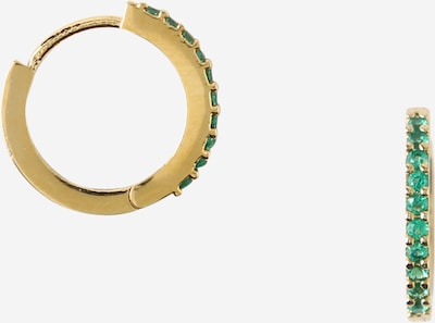 Cercei Orelia pe auriu / verde, Vizualizare produs