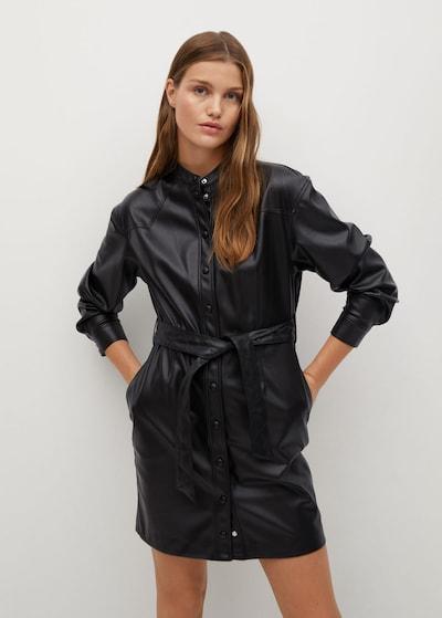 Rochie tip bluză MANGO pe negru, Vizualizare model
