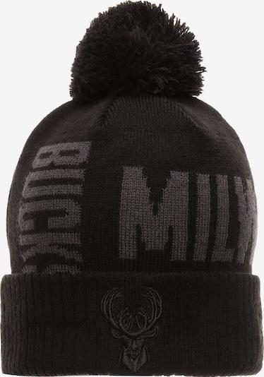 NEW ERA Bommelmütze 'NBA Milwaukee Bucks' in grau / schwarz, Produktansicht