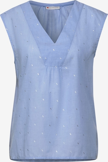 STREET ONE Bluse in hellblau / grau / weiß, Produktansicht