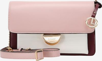 L.CREDI Schoudertas 'GERTRUDIS' in de kleur Rosa / Rood, Productweergave