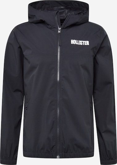 HOLLISTER Tussenjas in de kleur Zwart / Wit, Productweergave