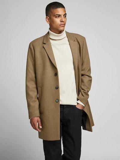 JACK & JONES Between-seasons coat 'JJEMOULDER WOOL COAT STS' in Khaki, View model