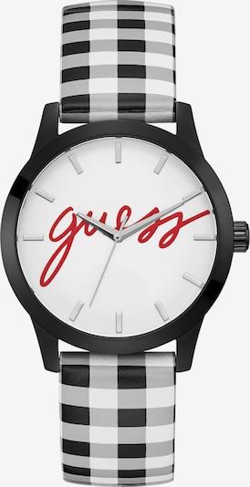 GUESS Analoguhr in rot / schwarz / weiß, Produktansicht
