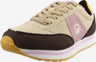 Benetton Footwear Zapatillas deportivas bajas en marrón claro / marrón oscuro / rosa / blanco, Vista del producto