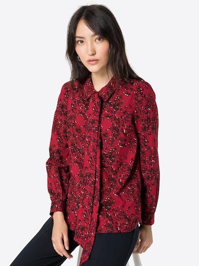 Thought Bluse 'JANELLE' in rot / dunkelrot / schwarz / weiß, Modelansicht