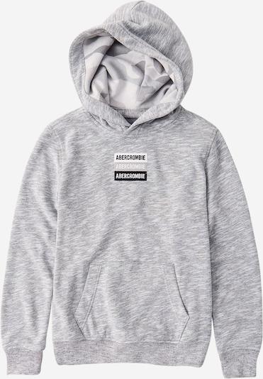 Abercrombie & Fitch Sudadera en gris moteado / negro / blanco: Vista frontal