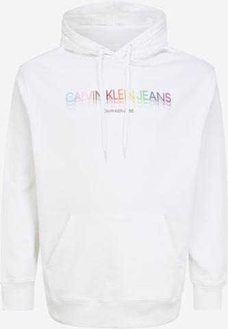 Felpa 'PRIDE' di Calvin Klein Jeans Plus in bianco