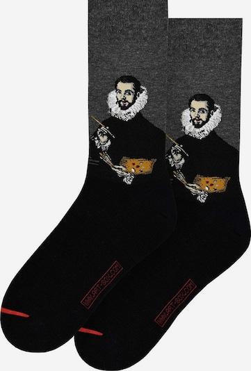 MuseARTa Sokken in de kleur Donkergrijs / Wit, Productweergave