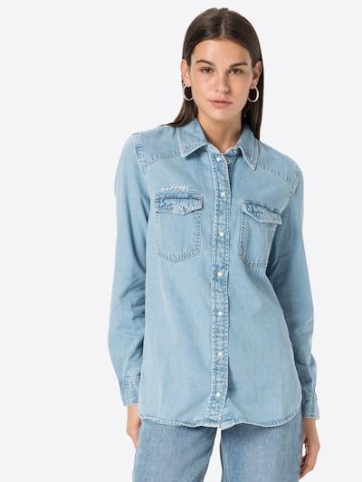 Bluză GUESS pe albastru denim, Vizualizare model
