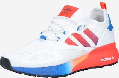 ADIDAS ORIGINALS Baskets basses 'ZX 2K' en bleu / orange / blanc, Vue avec produit