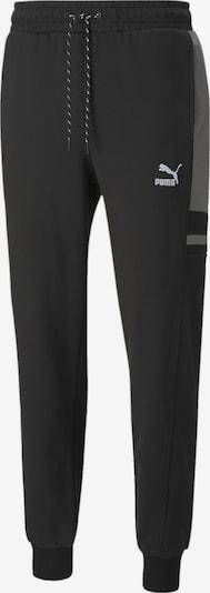 PUMA Sportbroek 'Glitch' in de kleur Grijs / Zwart / Wit, Productweergave