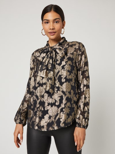 Guido Maria Kretschmer Collection Blouse 'Florentine' in Gold / Black, View model