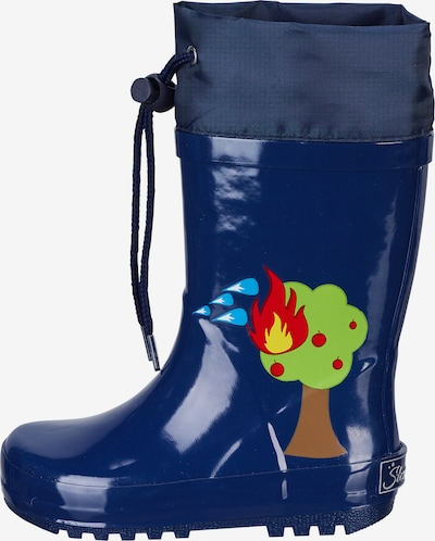 STERNTALER Gummistiefel 'Feuerwehr' in blau / mischfarben, Produktansicht