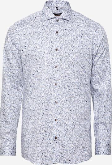 ETERNA Hemd in beige / hellbeige / navy / dunkelblau, Produktansicht